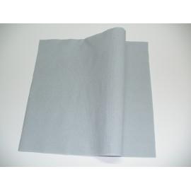 servilleta 40x40 2 capas gris micropunto plegado 1/4