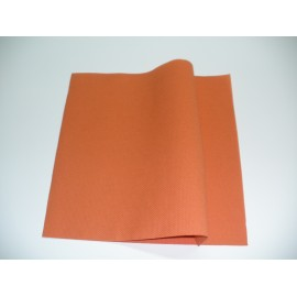 servilleta 40x40 2 capas terracota micropunto plegado 1/4