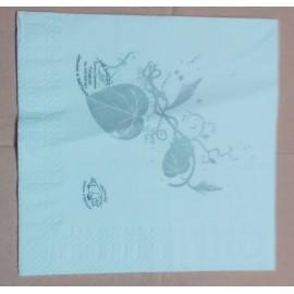 servilleta 30x40 1 capa blanco micropunto plegado 1/6 personalizada 1 color