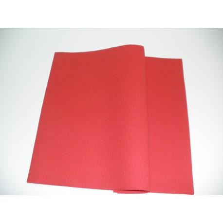 servilleta 40x40 2 capas rojo micropunto plegado 1/4