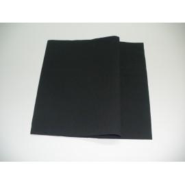 servilleta 40x40 2 capas negro micropunto plegado 1/4