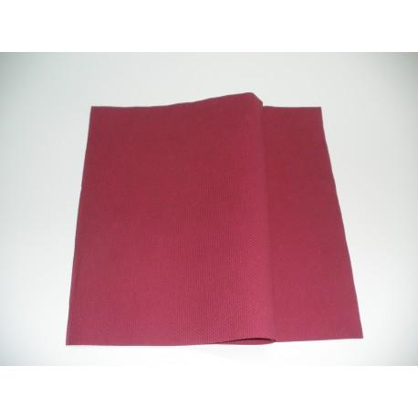 servilleta 20x20 3 capas burdeos gofrado plegado 1/4 personalizada 1 color