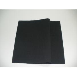 servilleta 20x20 3 capas negro gofrado plegado 1/4 personalizada 1 color