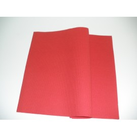 servilleta 40x40 airlaid rojo plegado 1/4 personalizada 2 colores