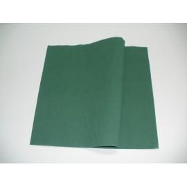 servilleta 30x40 2 capas verde micropunto plegado 1/4