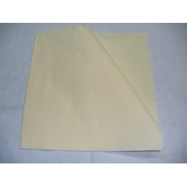 servilleta 30x40 2 capas crema micropunto plegado 1/6